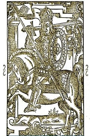 Morta - King Mindaugas, Morta's husband, as depicted in medieval chronicles