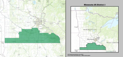 Minnesota's 1st congressional district - since January 3, 2013.