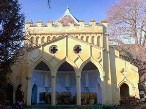 The Minories, Colchester - The Gothic Folly in the Minories' garden
