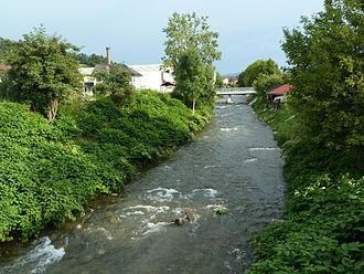 Mislinja (river) - The Mislinja in Slovenj Gradec