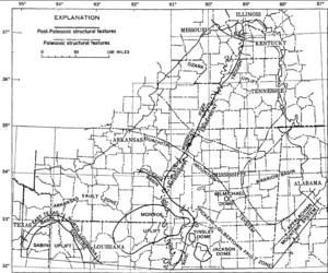 Mississippi embayment - Mississippi Embayment Structural Map