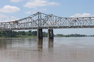 Vidalia, Louisiana - Natchez-Vidalia Bridge over the Mississippi River