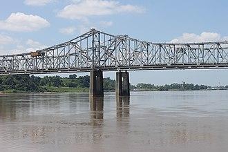 Vidalia, Louisiana - Natchez-Vidalia Bridge over the Mississippi River