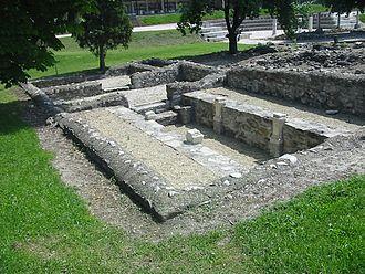 Aquincum Mithraeum (of Victorinus) - The mithraeum from the south