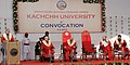 Mohd. Hamid Ansari addressing at the 5th Annual Convocation of the Krantiguru Shyamji Krishna Verma Kachchh University, at Bhuj, in Gujarat. The Governor of Gujarat, Shri O.P. Kohli, the Minister of Education, Gujarat.jpg