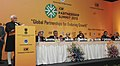 "Mohd. Hamid Ansari delivering the inaugural address at the Partnership Summit 2013 on ""Global Partnership for Enduring Growth"", in Agra, Uttar Pradesh. The Union Minister for Commerce & Industry and Textiles.jpg"