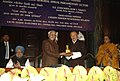 Mohd. Hamid Ansari presenting a memento to the Prime Minister of Bhutan, Mr. Lyonchhen Jigmi Y. Thinley at the 4th Prof. Hiren Mukerjee Memorial Annual Parliamentary Lecture, at Parliament House.jpg