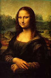 Mona Lisa by Leonardo da Vinci. Original painting from circa 1503 – 1507. Oil on poplar.
