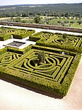 Monastery El Escorial Spain Gardens Old Style Cut Into A Maze Pattern for Walking.jpg