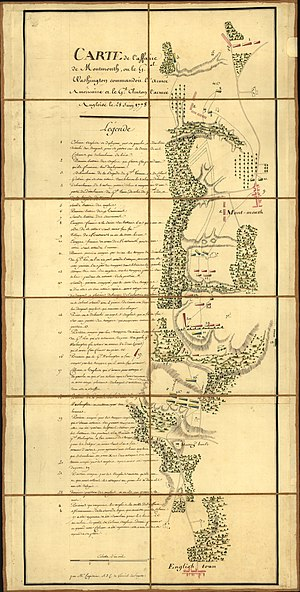 Battle of Monmouth - Map of the battle of Monmouth