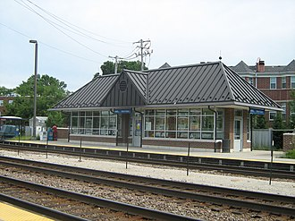 Montclare, Chicago - Mont Clare Metra station located near Grand Avenue and Sayre Avenue.