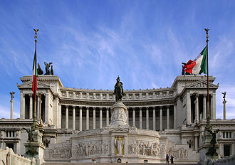 Flag of Italy - The Italian tricolour, flying at Vittoriano, Rome