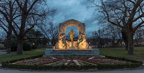Monument to Johann Strauss, Stadtpark, Vienna, Austria