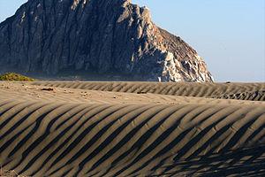 Morro Strand State Beach - Image: Morro Rock and Morro Strand State Beach