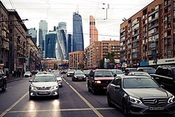Moscow City view from Bolshaya Dorogomilovskaya Street.jpeg