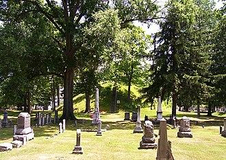 Mound Cemetery (Marietta, Ohio) - Mound Cemetery with Great Mound in background