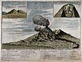 Mount Vesuvius erupting in 1755, seen from the west, with tw Wellcome V0025237.jpg