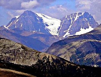 Diadem Peak - Diadem Peak (right) and Mount Woolley (left)