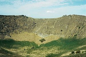 East Australia hotspot - View inside the crater of Mount Schank from the rim