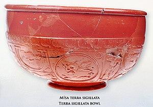 Roman fort, Mušov - Bowl of Terra sigillia
