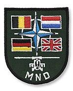 Multinational mouwembleem luchtmobiele brigade