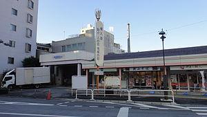 Musashi-Seki Station - South entrance, December 2012
