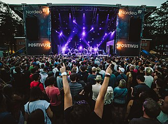 Positivus Festival - Second largest stage, sponsored by Nordea