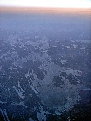 Lake Muskoka - Aerial sunrise view of Lake Muskoka