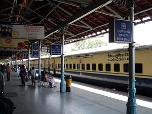 Transport in Karnataka - Shatabdi Express parked at Mysore railway station