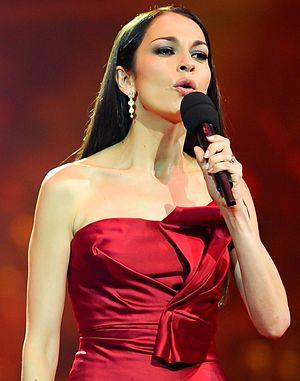 Nargiz Birk-Petersen - Nargiz Birk-Petersen presenting the Eurovision Song Contest in Baku, Azerbaijan 2012