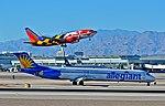 N419NV Allegiant Air 1992 McDonnell Douglas MD-83 - cn 53366 - ln 1999 -- N214WN Southwest Airlines 2005 Boeing 737-7H4 (cn 32486-1721) (15227758490).jpg