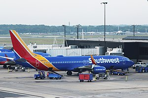 Southwest Airlines - A Southwest 737-800 at BWI Airport