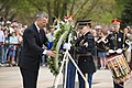 NATO secretary general participates in wreath laying ceremony at the Tomb of the Unknown Soldier in Arlington National Cemetery (33153261004).jpg