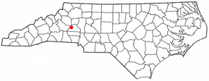 Brookford, North Carolina - Image: NC Map doton Brookford