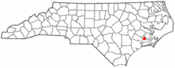 Location of Neuse Forest, North Carolina
