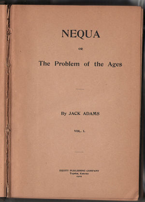 NEQUA or The Problem of the Ages - inside front cover of NEQUA or the Problem of the Ages
