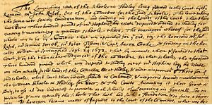 Hopkins Academy - Original document of the founding of Hopkins School