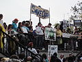 NOLA BP Oil Flood Protest Big Polluters Megaphone.JPG