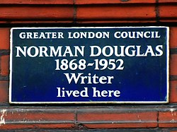 Norman douglas 1868 1952 writer lived here