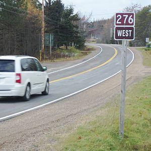 Nova Scotia Route 276 - Route sign in Goshen, Guysborough County, Nova Scotia