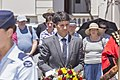 NSW state member for Ryde and Minister for Citizenship, Communities and Aboriginal Affairs Victor Dominello laying the wreath at the Kangaroo March commemoration ceremony.jpg
