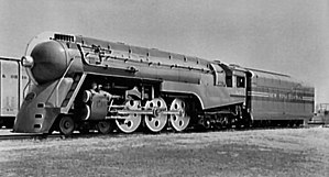 "New York Central Hudson - J-3a ""Dreyfuss"" Hudson on display at the 1939 World's Fair"
