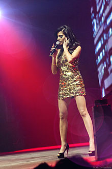 singer-songwriter Nadia Ali performing at Armin Only in Poznań, Poland