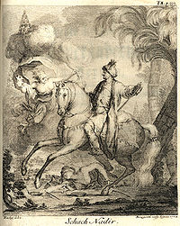 A Portrait of Nader Shah by Jonas Hanway