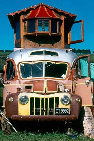 Housetrucker - 1981 Housebus at Nambassa.