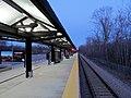 Nantasket Junction station in twilight, March 2014.JPG