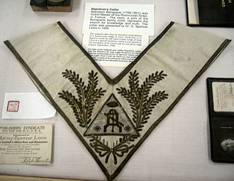 Ancient Mystical Order Rosae Crucis - A ceremonial collar belonging to Napoleon Bonaparte, Emperor of the French, while serving as Master of a Rosicrucian Order jurisdiction based in Paris. (as claimed by AMORC)