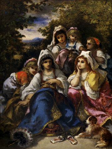 Fitxer:Narcisse Diaz de la Peña - The Gypsy Princesses ...