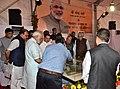 Narendra Modi watching the model of AIIMS Gorakhpur, during the foundation stone laying ceremony of the AIIMS Gorakhpur & for the revival of Gorakhpur Fertilizer plant, at Sports Ground, FCI, in Gorakhpur, Uttar Pradesh.jpg