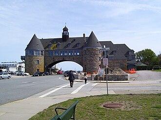 The Towers (Narragansett, Rhode Island) - Image: Narragansett Towers intersection 2008